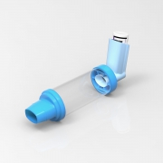 Inhaler with spacer chamber